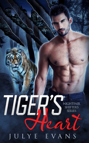 Tiger's Heart, A BWWM Paranormal Romance by Julye Evans